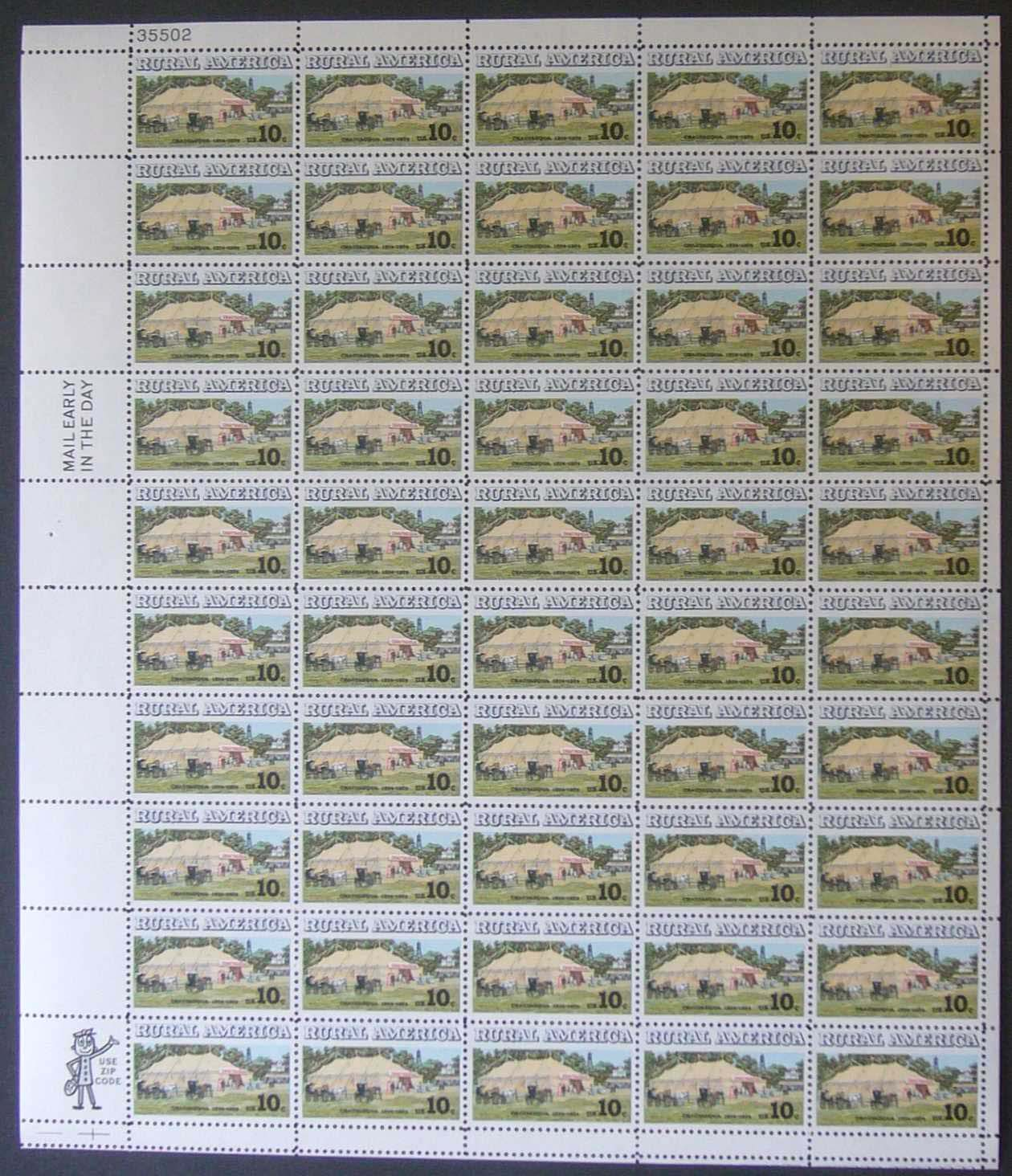 "Scott 1505 Sheet (10 cents) <p> <a href=""/images/USA-Scott-1505-Sheet.jpg""><font color=green><b>View the image</a></b></font>"