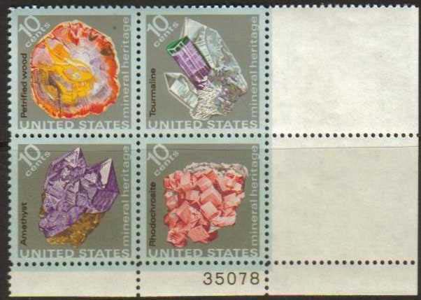 "Scott 1538-1541 Plate Block (10 cents) <p> <a href=""/images/USA-Scott-1538-1541-PB.jpg""><font color=green><b>View the image</a></b></font>"