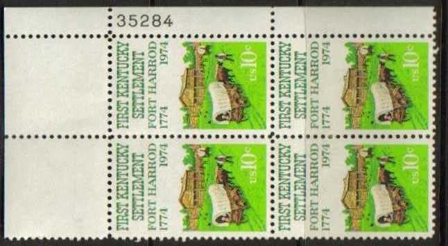"Scott 1542 Plate Block (10 cents) <p> <a href=""/images/USA-Scott-1542-PB.jpg""><font color=green><b>View the image</a></b></font>"