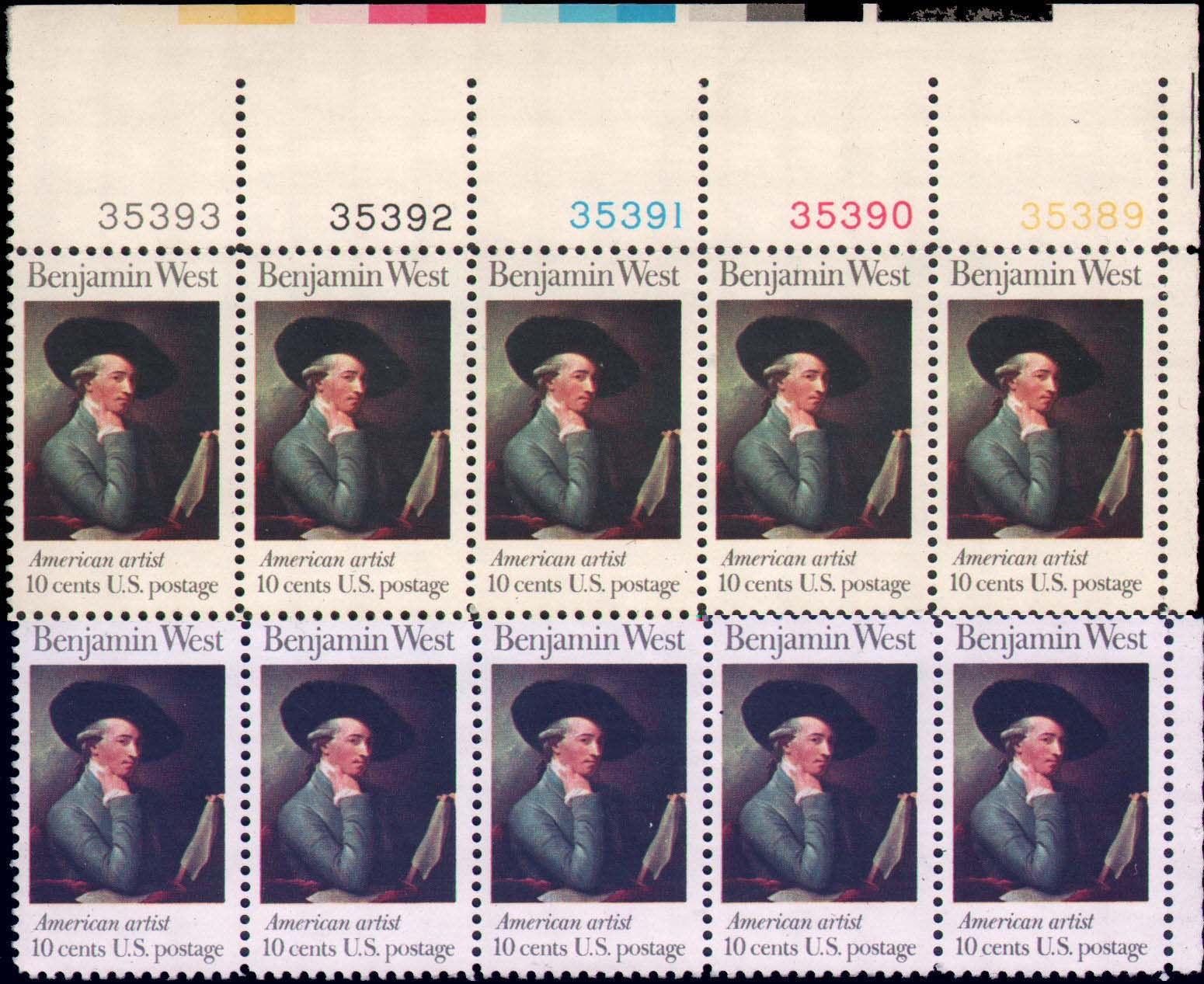 "Scott 1553 Plate Block of 10 (10 cents) <p> <a href=""/images/USA-Scott-1553-PB-10.jpg""><font color=green><b>View the image</a></b></font>"