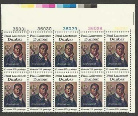 "Scott 1554 Plate Block of 10 (10 cents) <p> <a href=""/images/USA-Scott-1554-PB-10.jpg""><font color=green><b>View the image</a></b></font>"