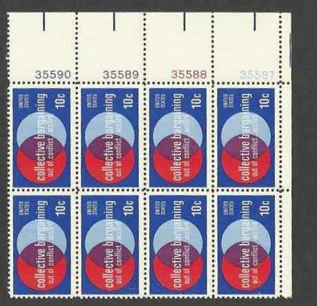 "Scott 1558 Plate Block of 8 (10 cents) <p> <a href=""/images/USA-Scott-1558-PB-8.jpg""><font color=green><b>View the image</a></b></font>"
