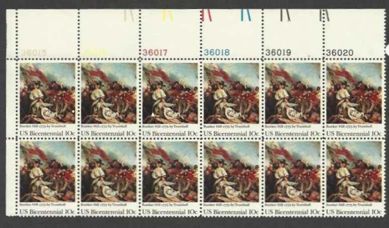 "Scott 1564 Plate Block of 12 (10 cents) <p> <a href=""/images/USA-Scott-1564-PB-12.jpg""><font color=green><b>View the image</a></b></font>"