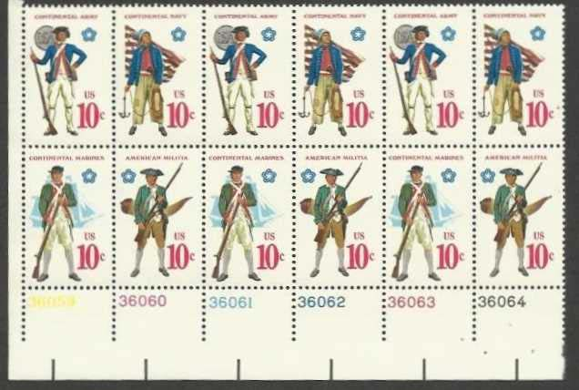"Scott 1565-1568 Plate Block of 12 (10 cents) <p> <a href=""/images/USA-Scott-1565-1568-PB-12.jpg""><font color=green><b>View the image</a></b></font>"