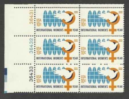 "Scott 1571 Plate Block of 6 (10 cents) <p> <a href=""/images/USA-Scott-1571-PB-6.jpg""><font color=green><b>View the image</a></b></font>"