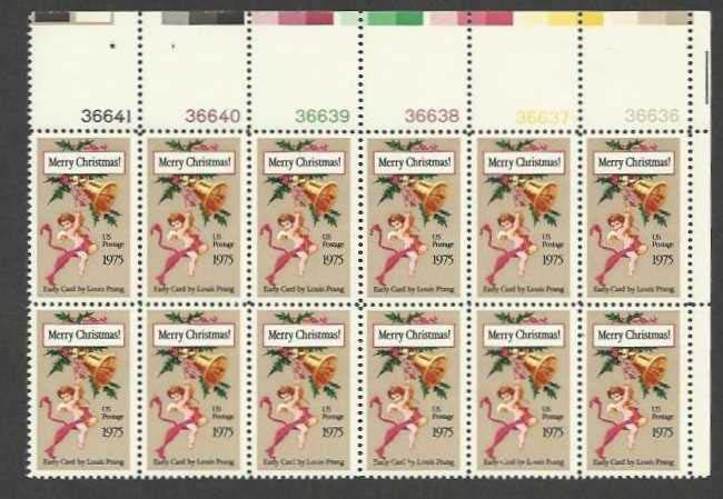 "Scott 1580 Plate Block of 12 (10 cents) <p> <a href=""/images/USA-Scott-1580-PB-12.jpg""><font color=green><b>View the image</a></b></font>"