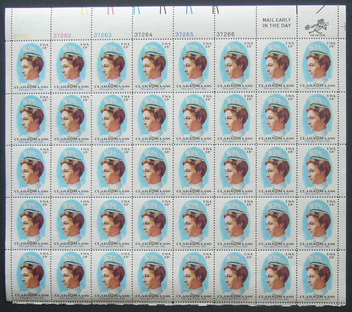 "Scott 1699 Sheet (13 cents) <p> <a href=""/images/USA-Scott-1699-Sheet.jpg""><font color=green><b>View the image</a></b></font>"