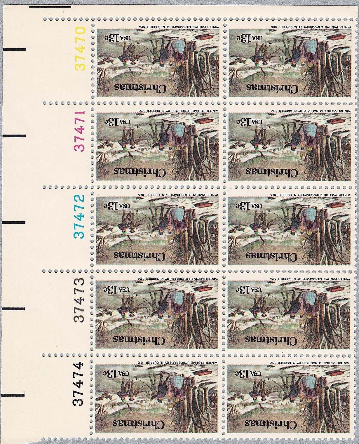 "Scott 1702 Plate Block of 10 (13 cents) Andreati print <p> <a href=""/images/USA-Scott-1702-PB-10.jpg""><font color=green><b>View the image</a></b></font>"