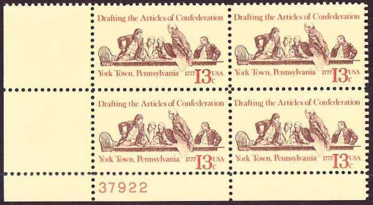 "Scott 1726 Plate Block (13 cents) <p> <a href=""/images/USA-Scott-1726-PB.jpg""><font color=green><b>View the image</a></b></font>"