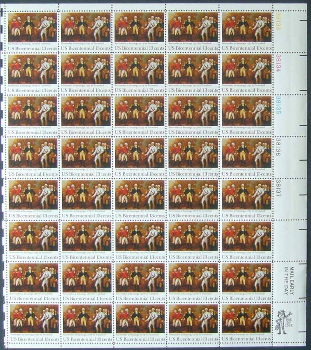 "Scott 1728 Sheet (13 cents) <p> <a href=""/images/USA-Scott-1728-Sheet.jpg""><font color=green><b>View the image</a></b></font>"