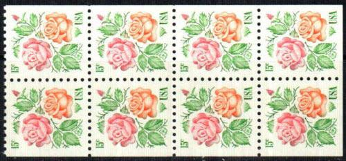 Scott 1737a Booklet Pane of 8 (15 cents)