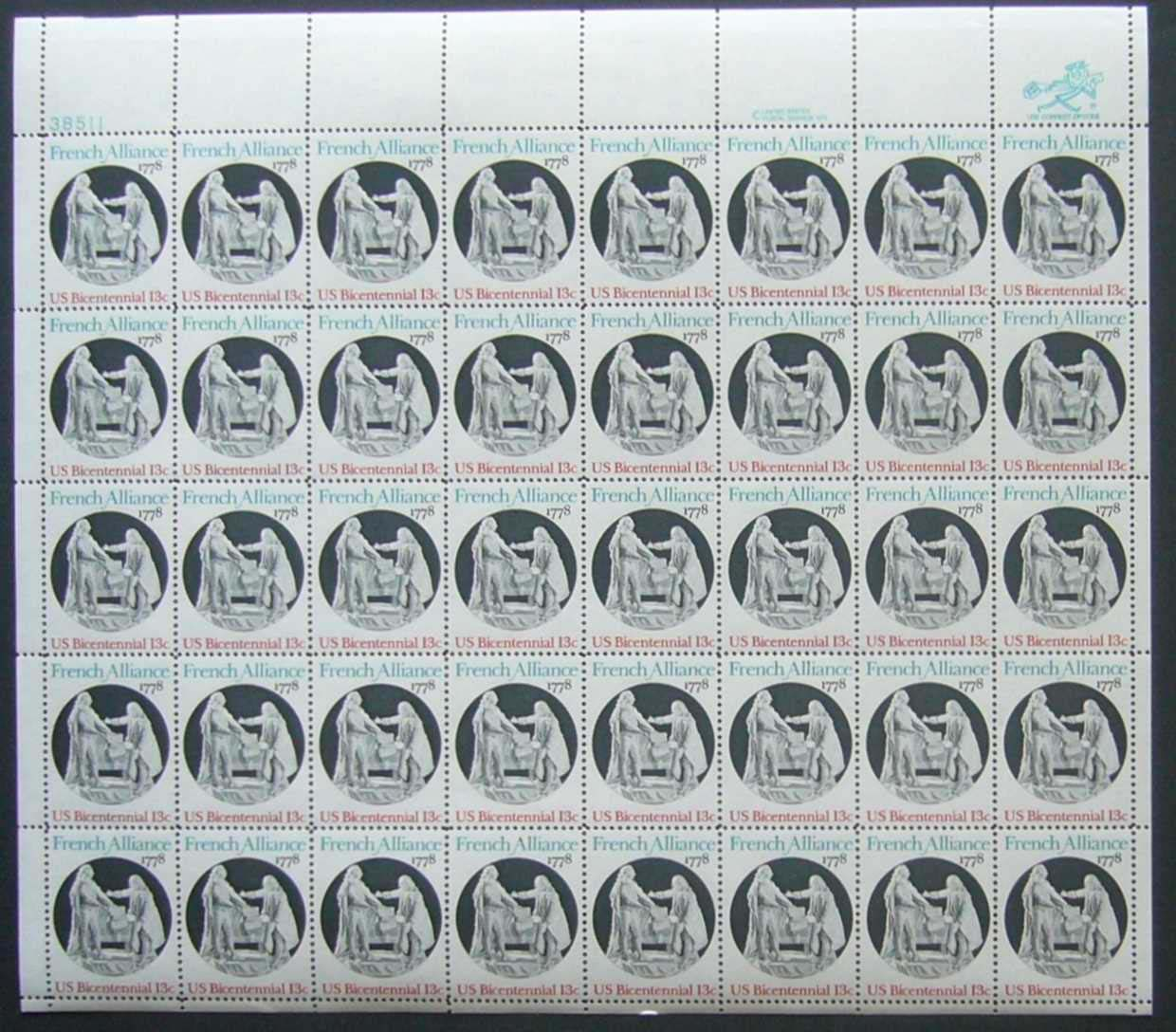 "Scott 1753 Sheet (13 cents) <p> <a href=""/images/USA-Scott-1753-Sheet.jpg""><font color=green><b>View the image</a></b></font>"