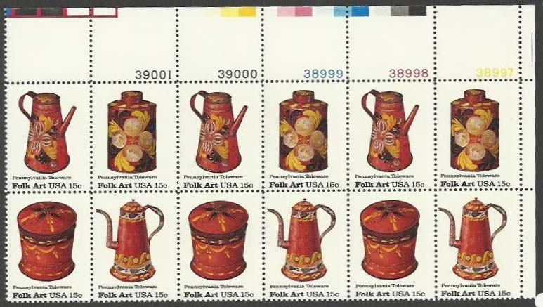 "Scott 1775-1778 Plate Block of 12 (15 cents) <p> <a href=""/images/USA-Scott-1775-1778-PB-12.jpg""><font color=green><b>View the image</a></b></font>"