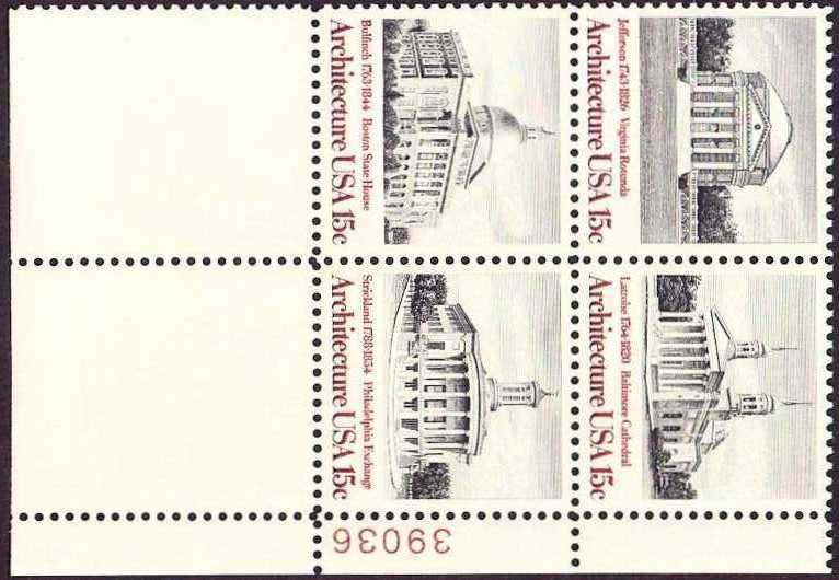 Scott 1779-1782 Plate Block (15 cents) <p> <a href=&quot;/images/USA-Scott-1779-1782-PB.jpg&quot;><font color=green><b>View the image</a></b></font>