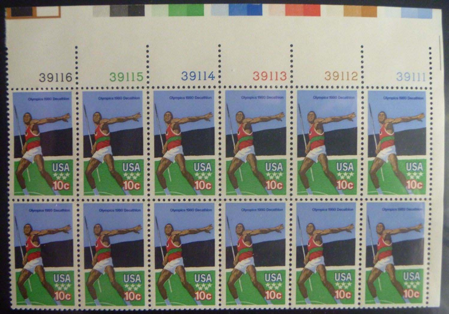 "Scott 1790 Plate Block of 12 (15 cents) <p> <a href=""/images/USA-Scott-1790-PB-12.jpg""><font color=green><b>View the image</a></b></font>"