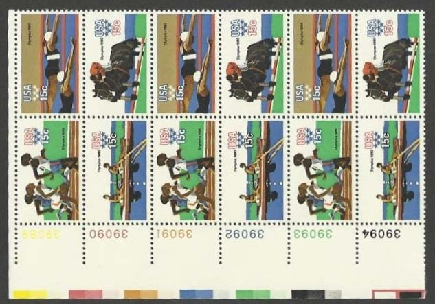 "Scott 1791-1794 Plate Block of 12 (15 cents) <p> <a href=""/images/USA-Scott-1791-1794-PB-12.jpg""><font color=green><b>View the image</a></b></font>"