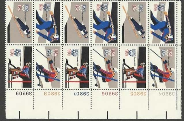 "Scott 1795-1798 Plate Block of 12 (15 cents) <p> <a href=""/images/USA-Scott-1795-1798-PB-12.jpg""><font color=green><b>View the image</a></b></font>"