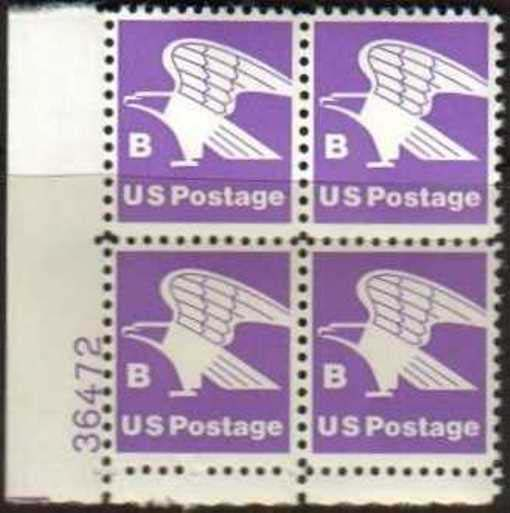 "Scott 1818 Plate Block (18 cents) <p> <a href=""/images/USA-Scott-1818-PB.jpg""><font color=green><b>View the image</a></b></font>"