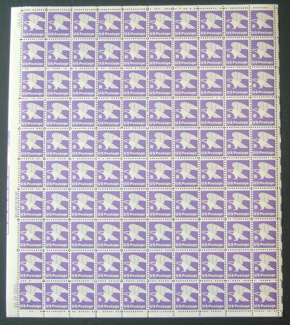 "Scott 1818 Sheet (18 cents) <p> <a href=""/images/USA-Scott-1818-Sheet.jpg""><font color=green><b>View the image</a></b></font>"