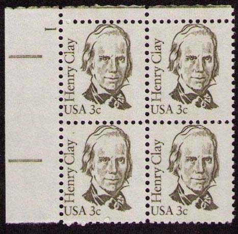 "Scott 1846 Plate Block (3 cents) <p> <a href=""/images/USA-Scott-1846-PB.jpg""><font color=green><b>View the image</a></b></font>"