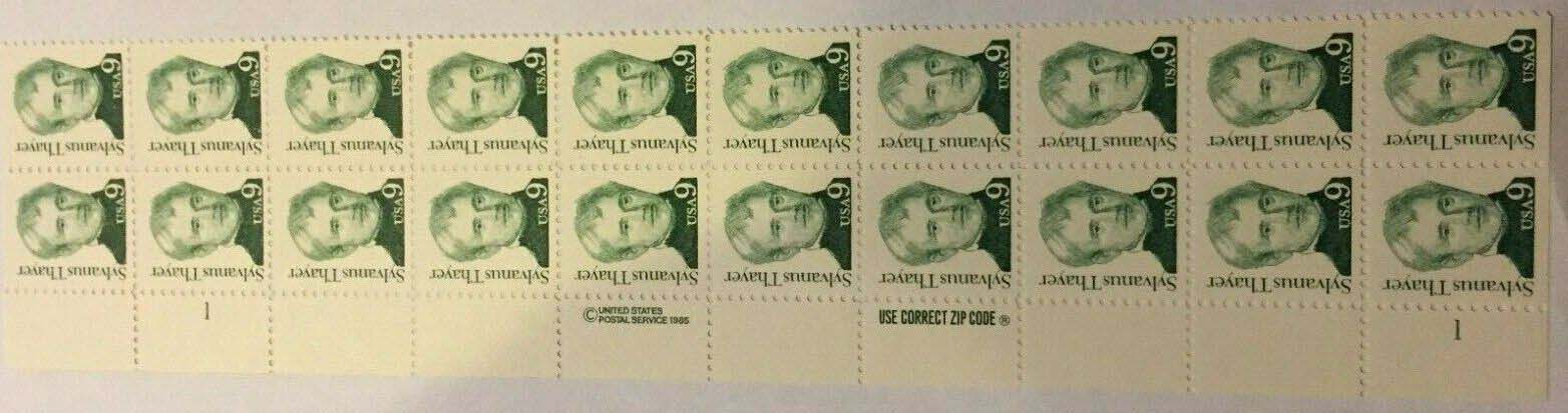 "Scott 1852 Plate Block of 20 (9 cent) <p> <a href=""/images/USA-Scott-1852-PB-20.jpg""><font color=green><b>View the image</a></b></font>"