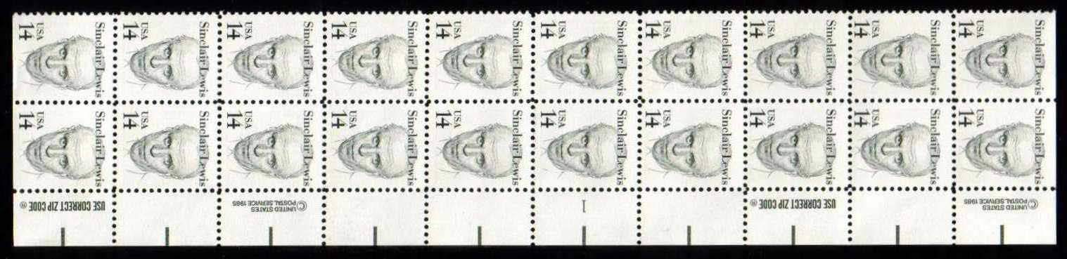 "Scott 1856 Plate Block of 20 (14 cents) <p> <a href=""/images/USA-Scott-1856-PB-20.jpg""><font color=green><b>View the image</a></b></font>"