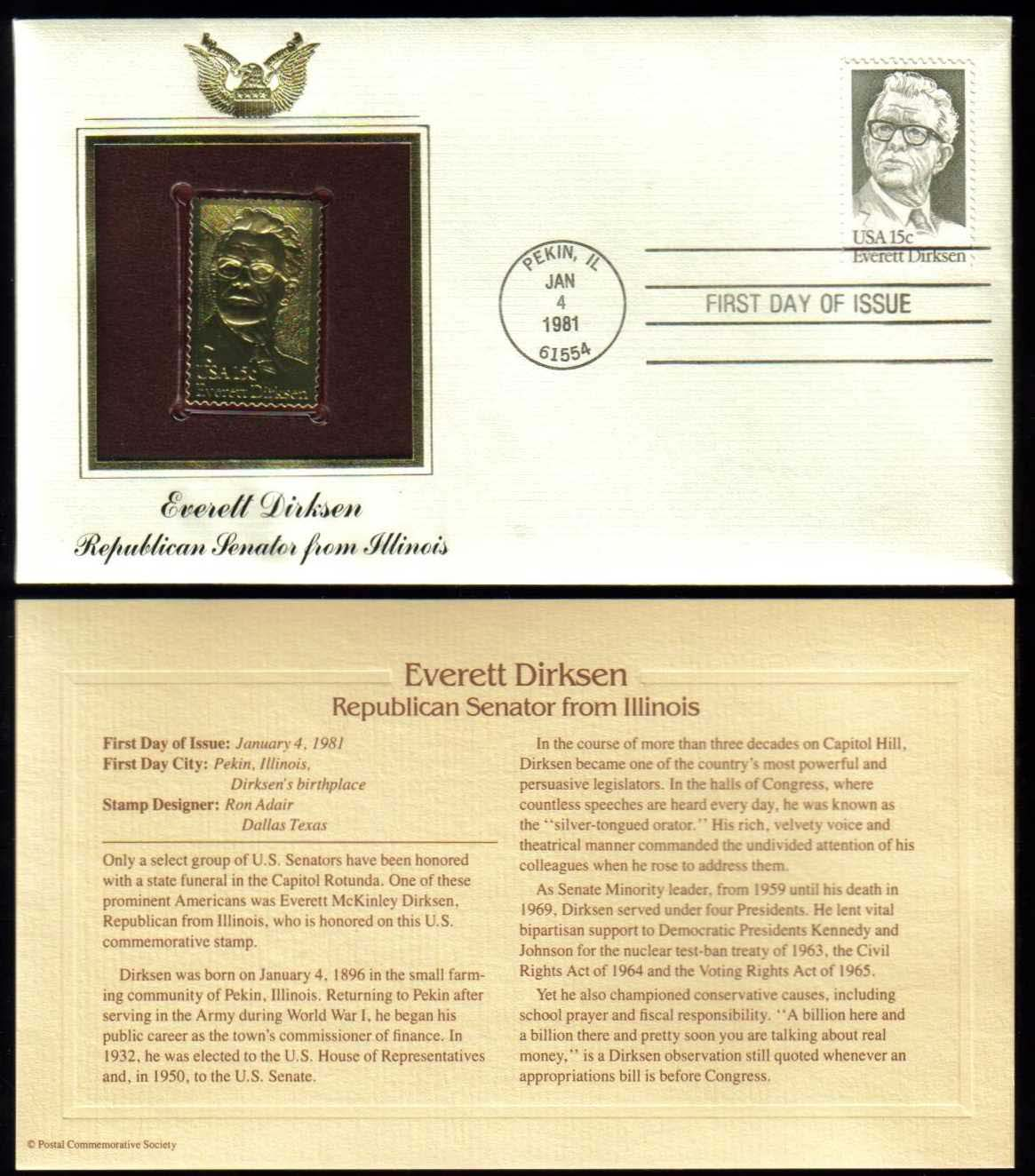 "Scott 1874 Golden Replica (22Kt) unaddressed FDC <p> <a href=""/images/USA-Scott-1874-Gold.jpg""><font color=green><b>View the image</a></b></font>"
