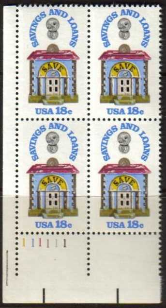 "Scott 1911 Plate Block (18 cents) <p> <a href=""/images/USA-Scott-1911-PB.jpg""><font color=green><b>View the image</a></b></font>"