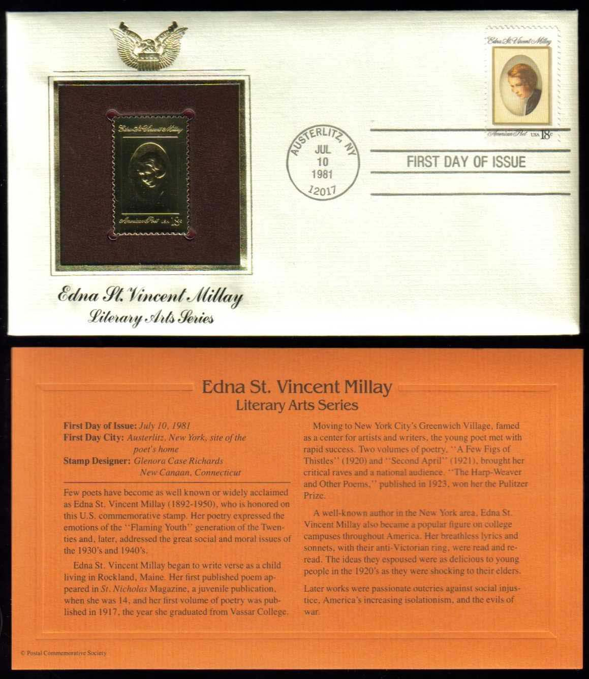 "Scott 1926 Golden Replica (22Kt) unaddressed FDC <p> <a href=""/images/USA-Scott-1926-Gold.jpg""><font color=green><b>View the image</a></b></font>"