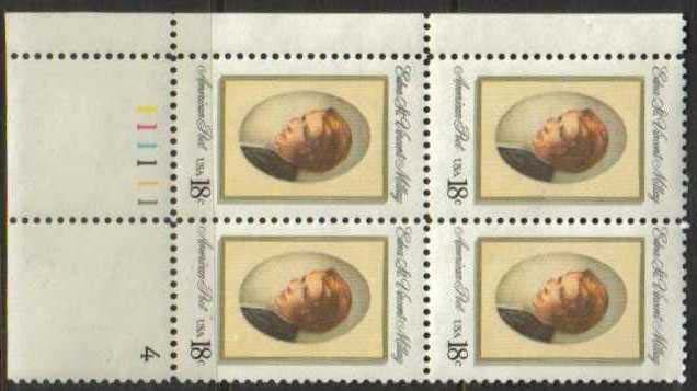 "Scott 1926 Plate Block (18 cents) <p> <a href=""/images/USA-Scott-1926-PB.jpg""><font color=green><b>View the image</a></b></font>"