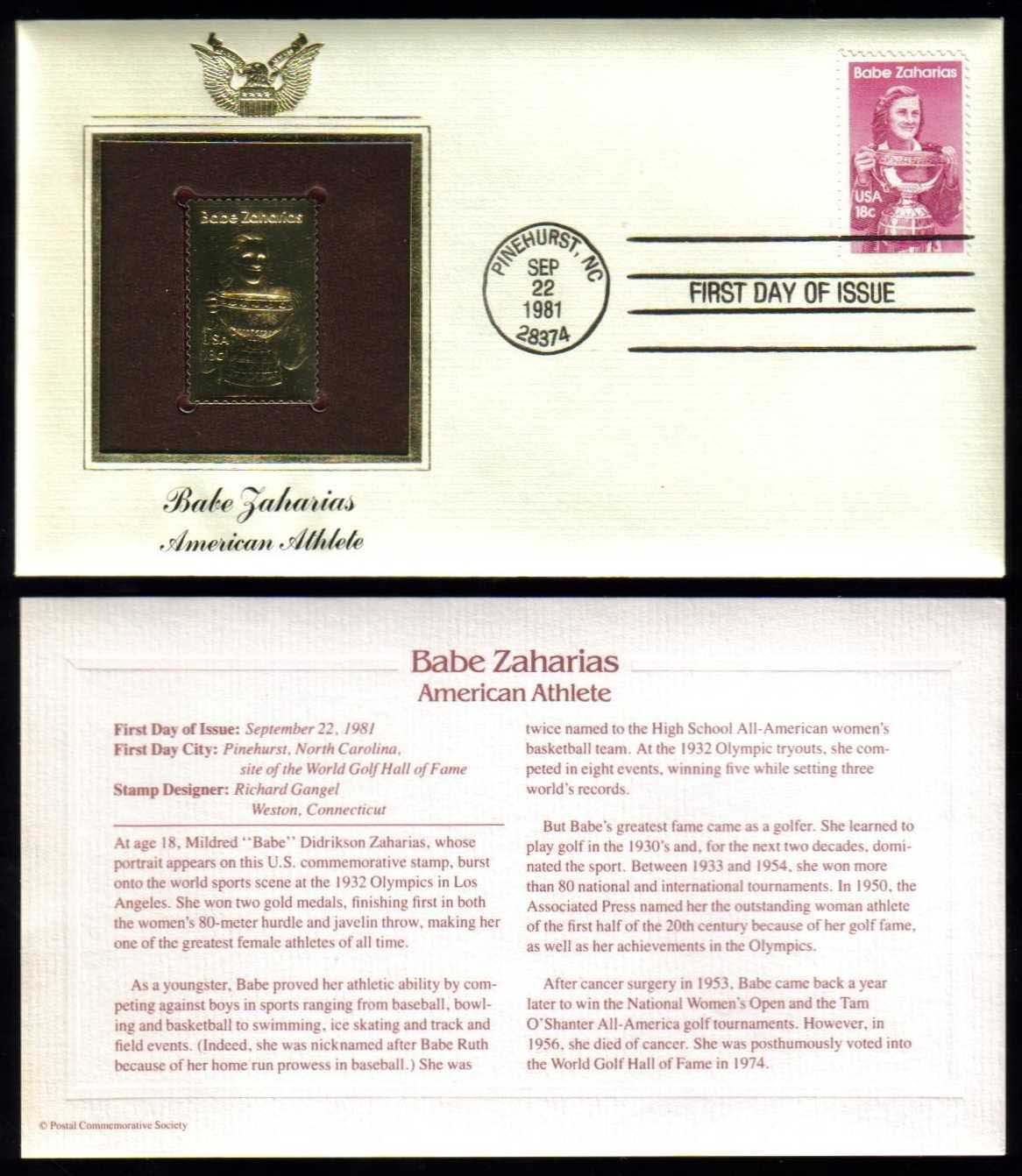 "Scott 1932 Golden Replica (22Kt) unaddressed FDC <p> <a href=""/images/USA-Scott-1932-Gold.jpg""><font color=green><b>View the image</a></b></font>"
