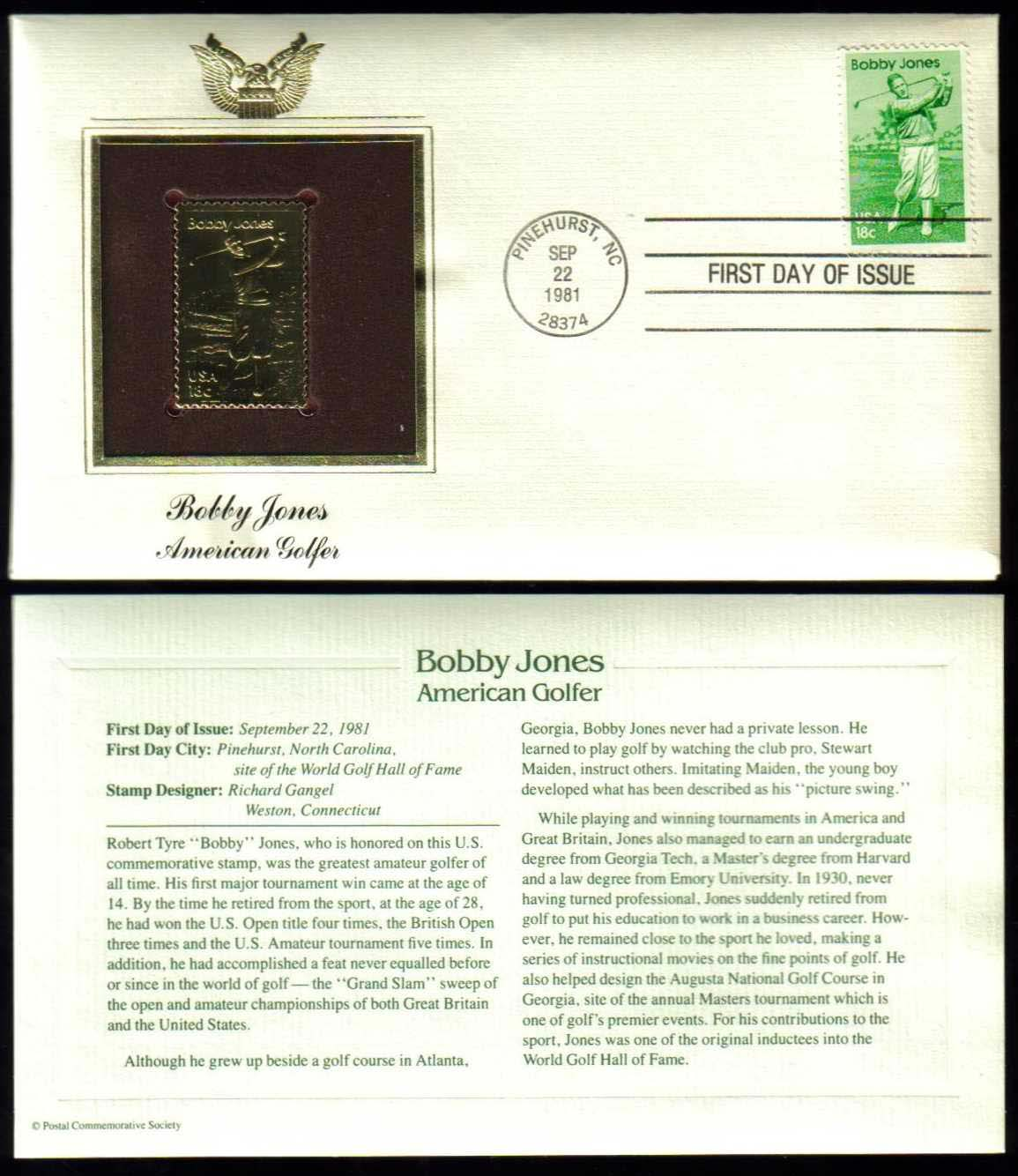 "Scott 1933 Golden Replica (22Kt) unaddressed FDC <p> <a href=""/images/USA-Scott-1933-Gold.jpg""><font color=green><b>View the image</a></b></font>"