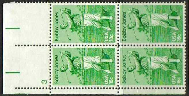 "Scott 1933 Plate Block (18 cents) <p> <a href=""/images/USA-Scott-1933-PB.jpg""><font color=green><b>View the image</a></b></font>"