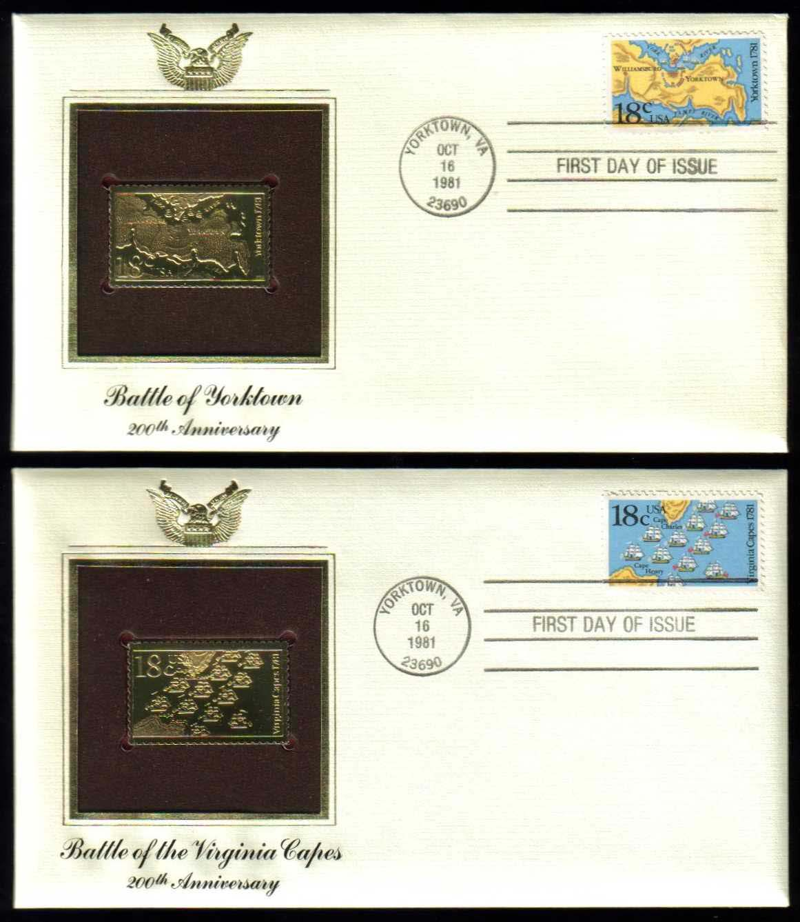 "Scott 1937-1938 Golden Replica (22Kt) unaddressed FDC, Set of 2 <p> <a href=""/images/USA-Scott-1937-1938-Gold.jpg""><font color=green><b>View the image</a></b></font>"