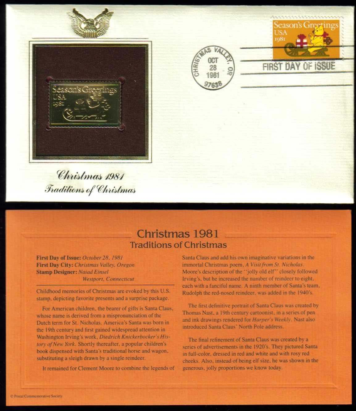 Scott 1940 Golden Replica (22Kt) unaddressed FDC <p> <a href=&quot;/images/USA-Scott-1940-Gold.jpg&quot;><font color=green><b>View the image</a></b></font>