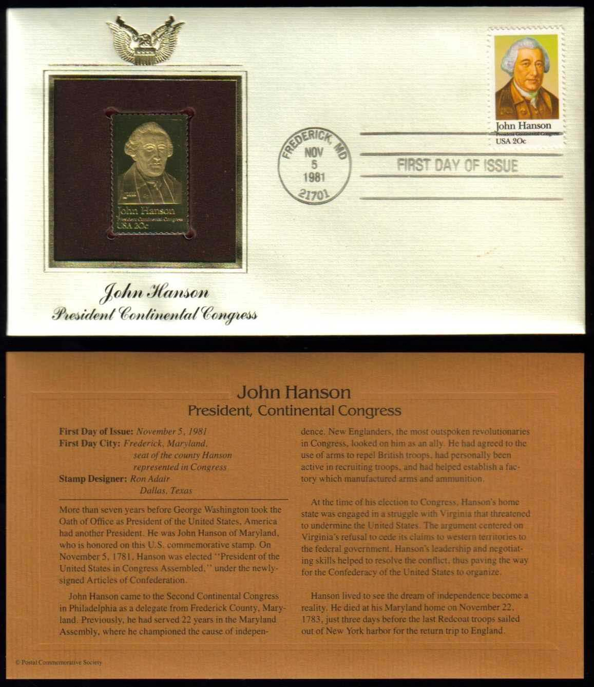 "Scott 1941 Golden Replica (22Kt) unaddressed FDC <p> <a href=""/images/USA-Scott-1941-Gold.jpg""><font color=green><b>View the image</a></b></font>"
