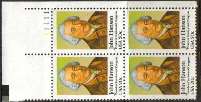"Scott 1941 Plate Block (20 cents) <p> <a href=""/images/USA-Scott-1941-PB.jpg""><font color=green><b>View the image</a></b></font>"