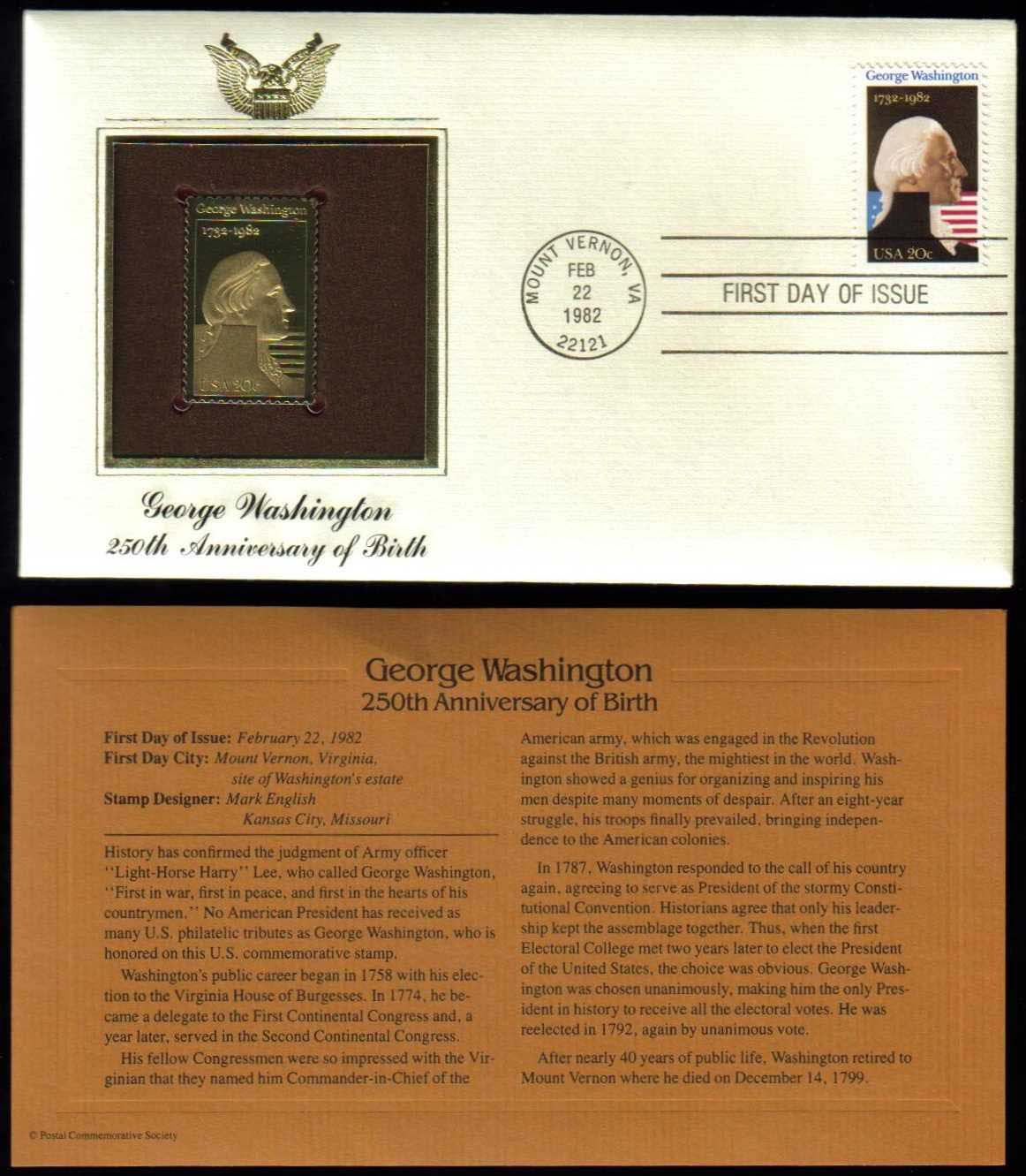 "Scott 1952 Golden Replica (22Kt) unaddressed FDC <p> <a href=""/images/USA-Scott-1952-Gold.jpg""><font color=green><b>View the image</a></b></font>"