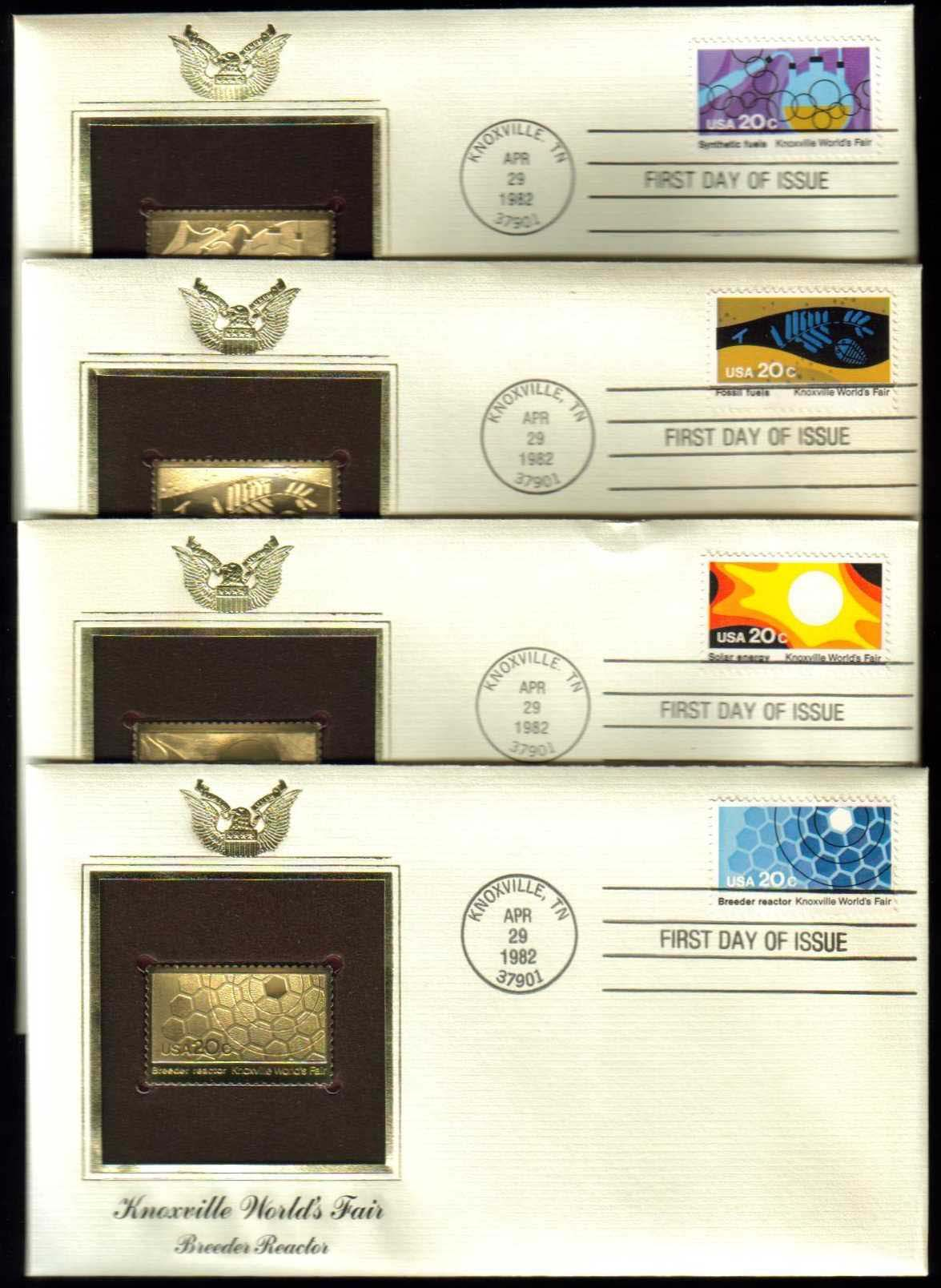 "Scott 2006-2009 Golden Replica (22Kt) unaddressed FDC, Set of 4 <p> <a href=""/images/USA-Scott-2006-2009-Gold.jpg""><font color=green><b>View the image</a></b></font>"