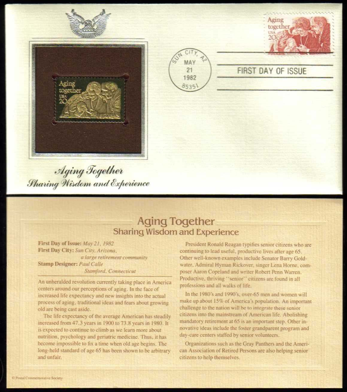 Scott 2011 Golden Replica (22Kt) unaddressed FDC <p> <a href=&quot;/images/USA-Scott-2011-Gold.jpg&quot;><font color=green><b>View the image</a></b></font>