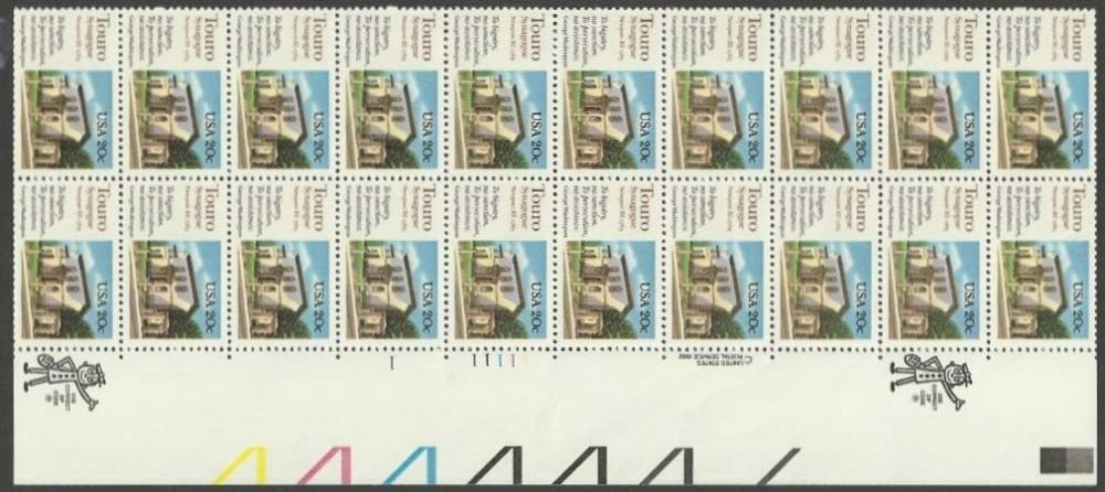 "Scott 2017 Plate Block (20 cents X 20) <p> <a href=""/images/USA-Scott-2017-PB-20.jpg""><font color=green><b>View the image</a></b></font>"