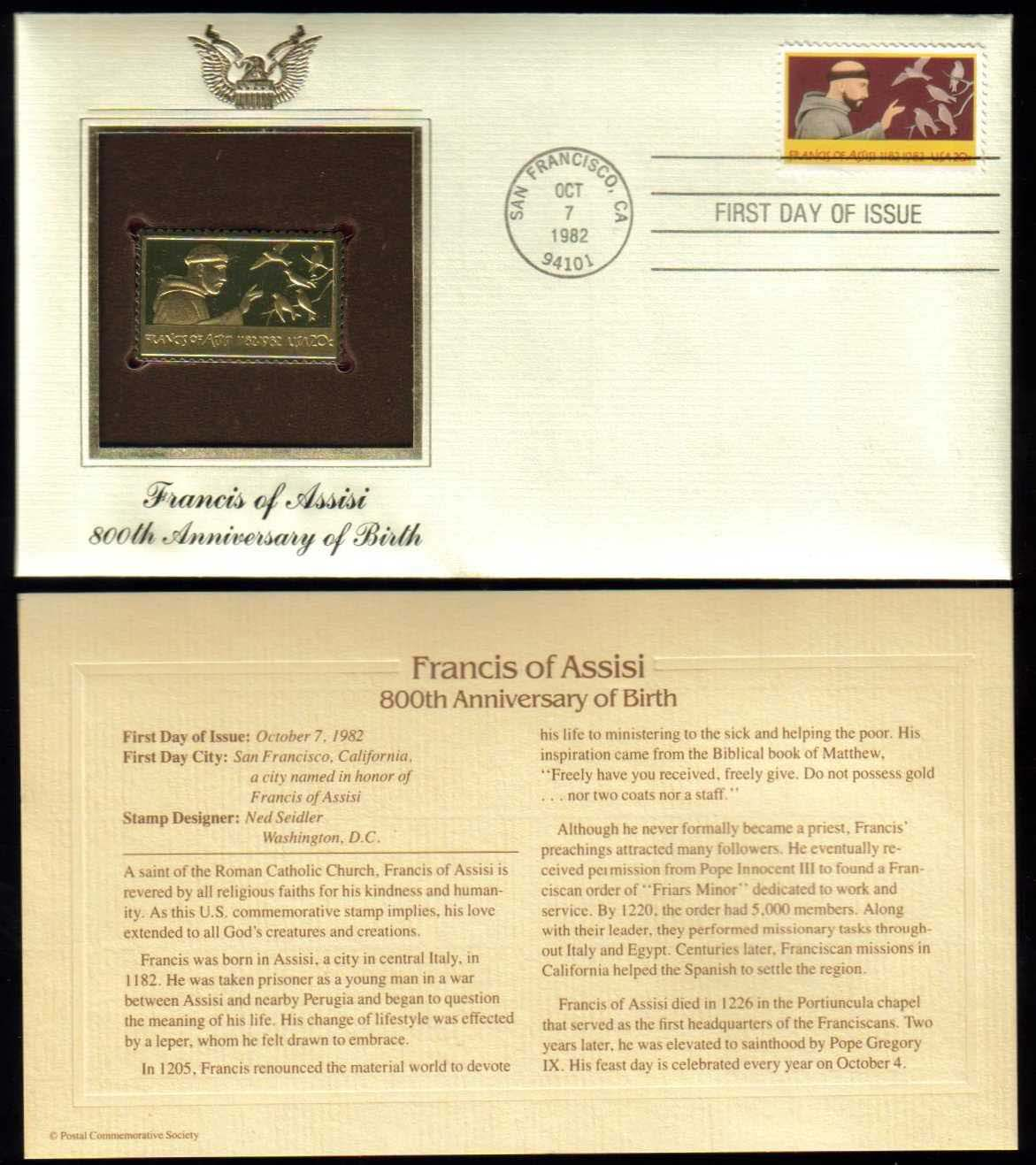 "Scott 2023 Golden Replica (22Kt) unaddressed FDC <p> <a href=""/images/USA-Scott-2023-Gold.jpg""><font color=green><b>View the image</a></b></font>"