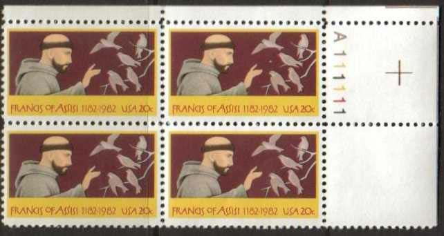 "Scott 2023 Plate Block (20 cents) <p> <a href=""/images/USA-Scott-2023-PB.jpg""><font color=green><b>View the image</a></b></font>"