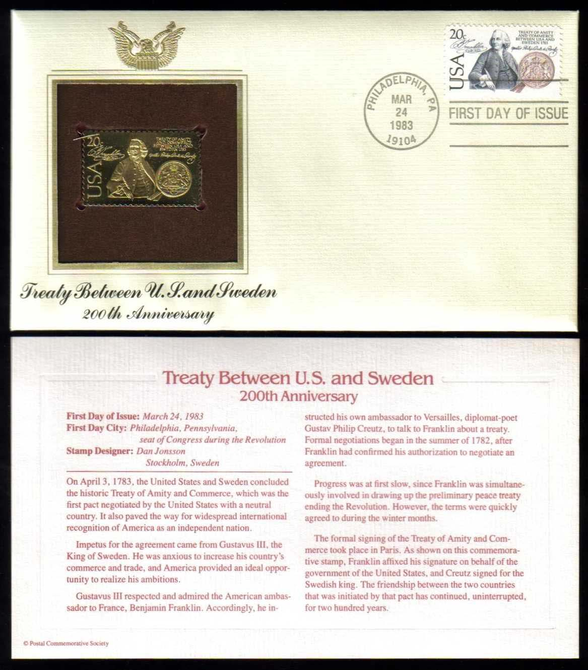 "Scott 2036 Golden Replica (22Kt) unaddressed FDC <p> <a href=""/images/USA-Scott-2036-Gold.jpg""><font color=green><b>View the image</a></b></font>"