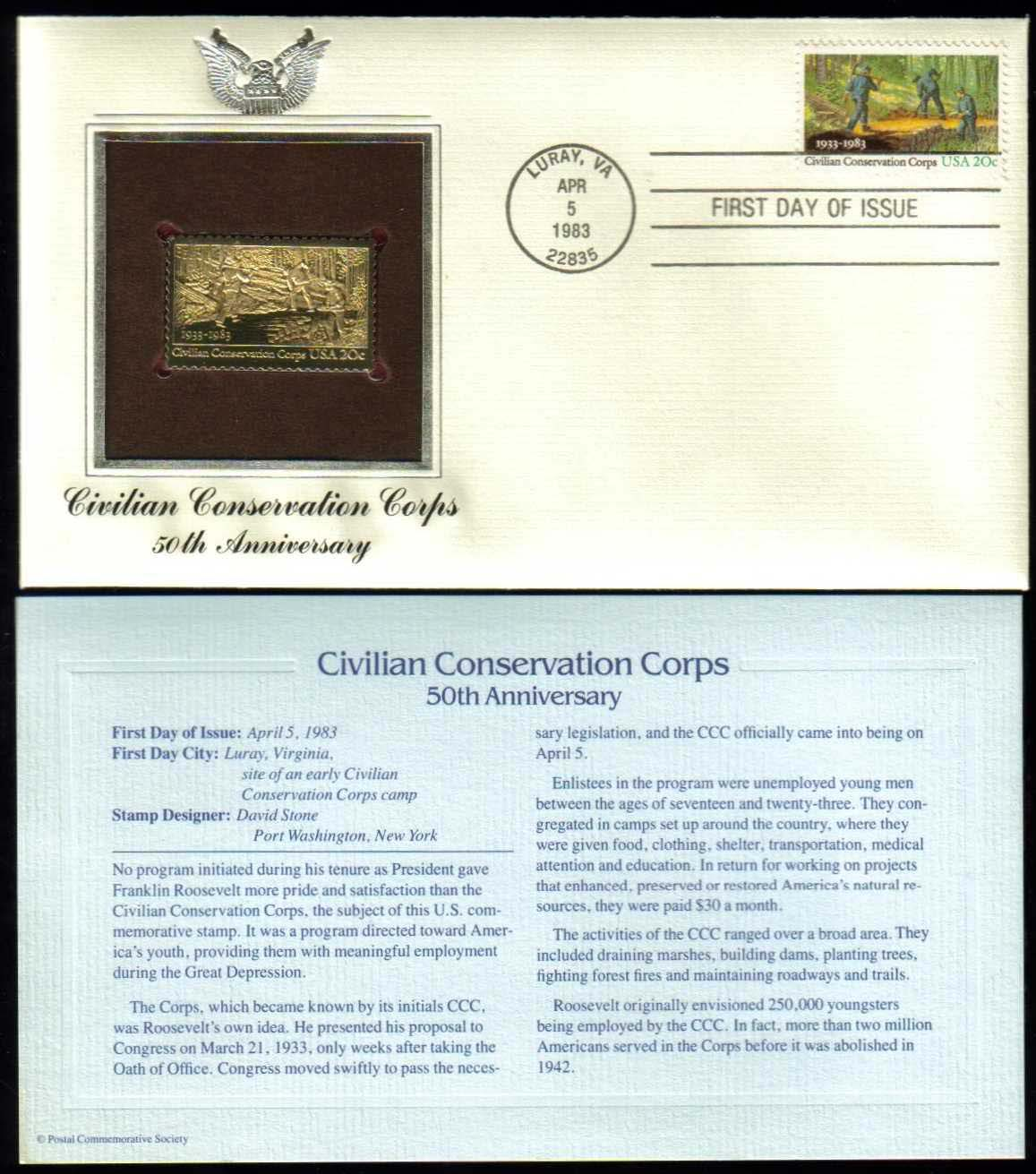 "Scott 2037 Golden Replica (22Kt) unaddressed FDC <p> <a href=""/images/USA-Scott-2037-Gold.jpg""><font color=green><b>View the image</a></b></font>"