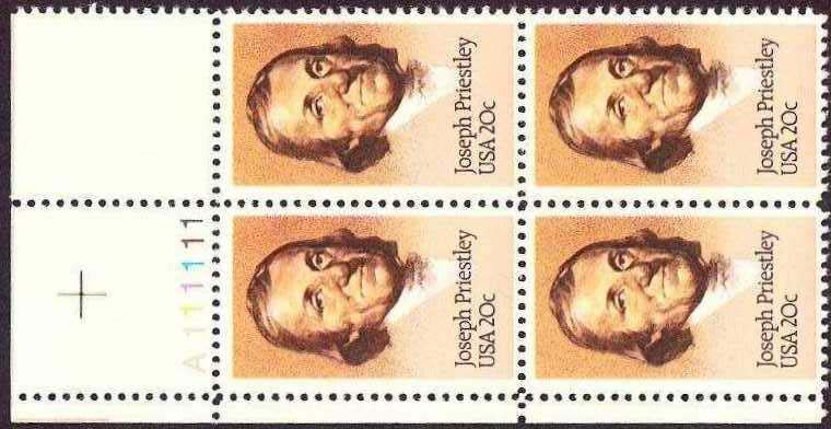 "Scott 2038 Plate Block (20 cents) <p> <a href=""/images/USA-Scott-2038-PB.jpg""><font color=green><b>View the image</a></b></font>"