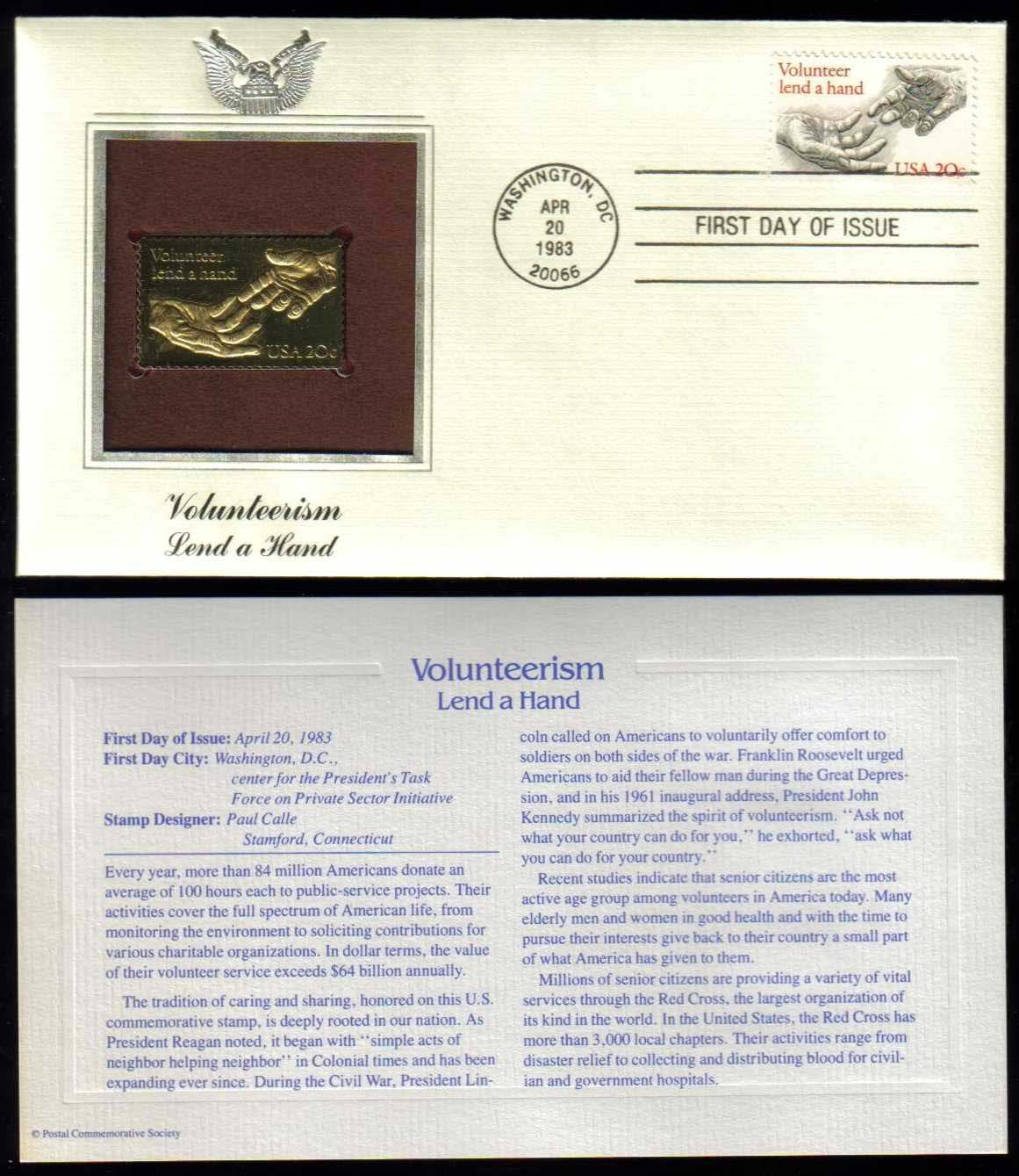 "Scott 2039 Golden Replica (22Kt) unaddressed FDC <p> <a href=""/images/USA-Scott-2039-Gold.jpg""><font color=green><b>View the image</a></b></font>"