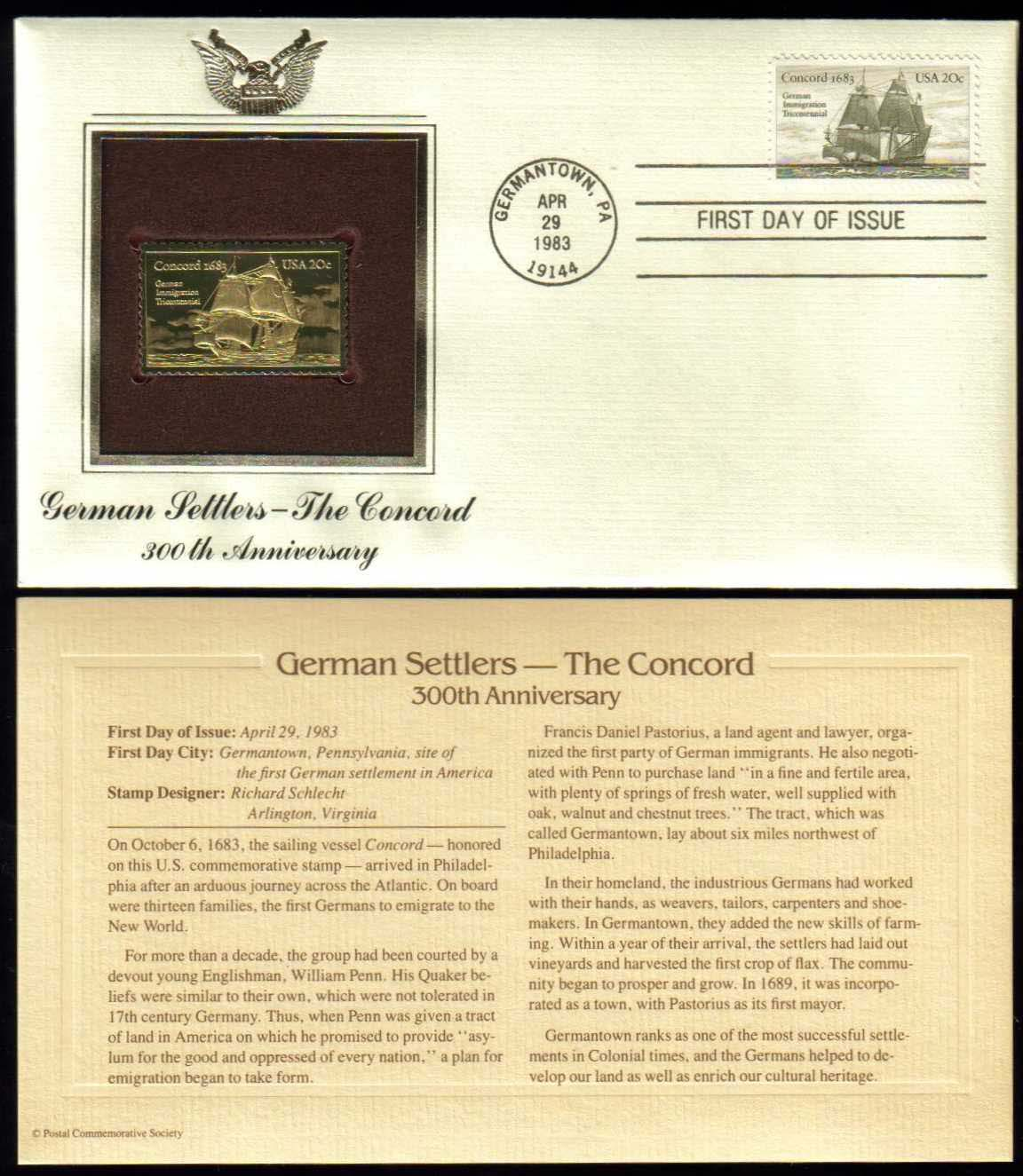 "Scott 2040 Golden Replica (22Kt) unaddressed FDC <p> <a href=""/images/USA-Scott-2040-Gold.jpg""><font color=green><b>View the image</a></b></font>"