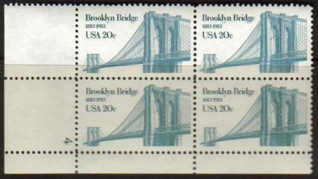 "Scott 2041 Plate Block (20 cents) <p> <a href=""/images/USA-Scott-2041-PB.jpg""><font color=green><b>View the image</a></b></font>"