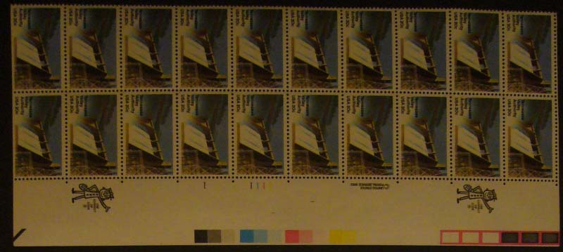 "Scott 2042 Plate Block (20 cents X 20) <p> <a href=""/images/USA-Scott-2042-PB-20.jpg""><font color=green><b>View the image</a></b></font>"